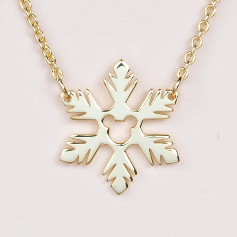 Frozen Fractal Necklace - Gold