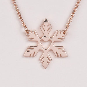 Frozen Fractal Necklace - Rose Gold
