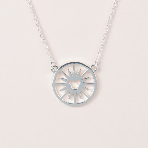 Fun Wheel Necklace - Silver