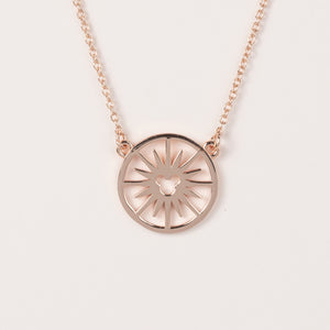 Fun Wheel Necklace - Rose Gold