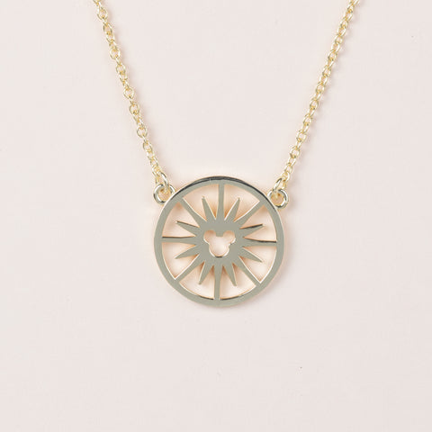 Fun Wheel Necklace - Gold