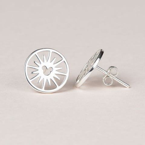 Fun Wheel Earrings - Silver