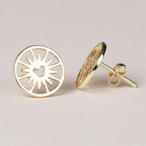 Fun Wheel Earrings - Gold