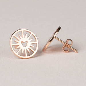 Fun Wheel Earrings - Rose Gold
