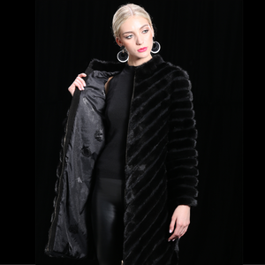 Women's Longline Mink Fur Coat