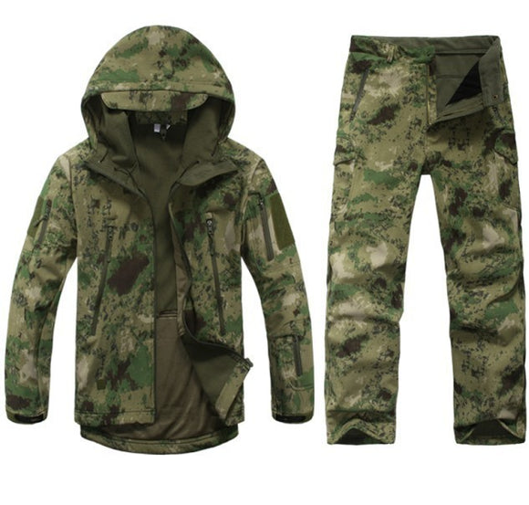 Men Outdoor Waterproof Jackets Tactical Hunting Suit