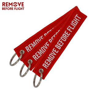 3 PCS/LOT Remove Before Flight Key Chain