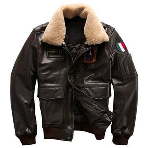 Men's Air Force A2 Cowhide Leather Jacket