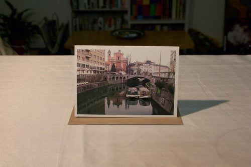 Greeting Card - Ljubljanica River No 2