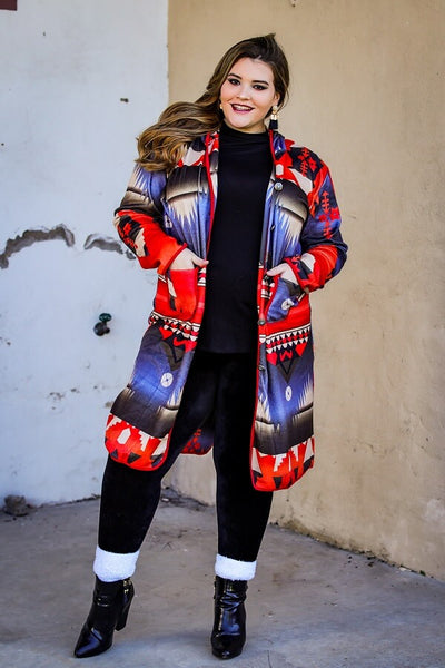 AZTEC MID-LENGTH JACKET