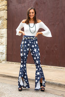BLACK STAR FLARE PANTS