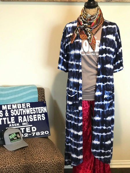 MOODY BLUES TIE DYE DUSTER