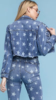 THE STARS AT NIGHT~~PRINTED DENIM JACKET