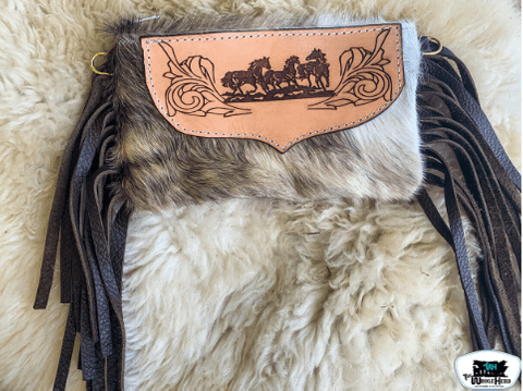 TOOLED CROSS BODY BAGS