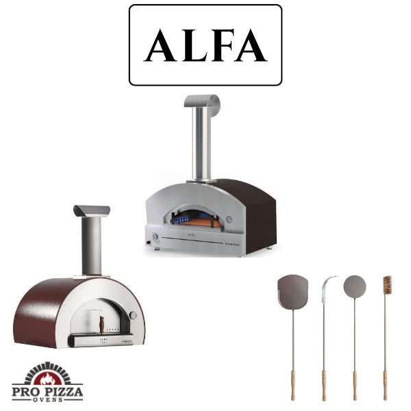 Alfa Wood Fired and Gas Pizza Ovens with Accessories