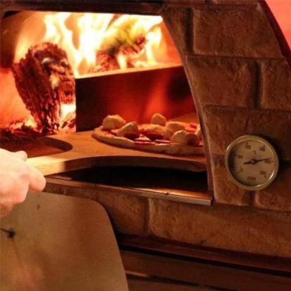 Authentic Pizza Ovens Maximus Prime Countertop Pizza Oven Cooking Pizza with Fire in the Oven