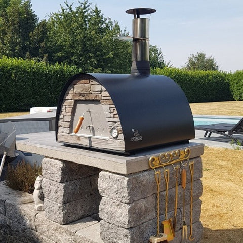 Authentic Pizza Ovens Maximus Countertop Wood Fired Pizza Oven Flexible Placement