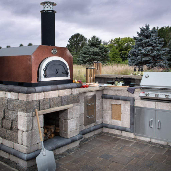 Chicago Brick Oven CBO 500 Countertop Pizza Oven on Custom Back Patio
