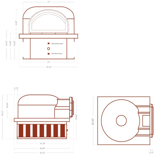 Chicago Brick Oven CBO 750 Hybrid Pizza Oven DIY Kit Specification Sheet