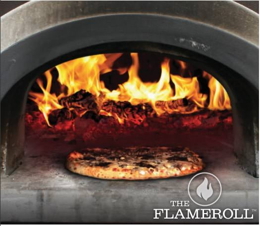 Chicago Brick Oven Pizza Oven Patented Flame Roll Technology Close Up View