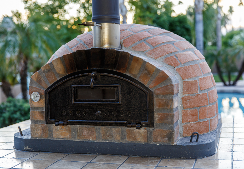 Authentic Pizza Ovens Premium Pizzaioli Rustic Finish Built-In or Countertop Wood Fired Pizza Oven Customizable
