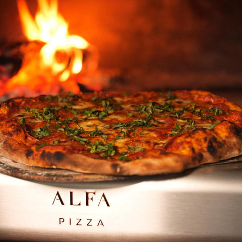 Alfa Forni 4 Pizze Mobile Wood Fired Pizza Oven Cooking Pizza