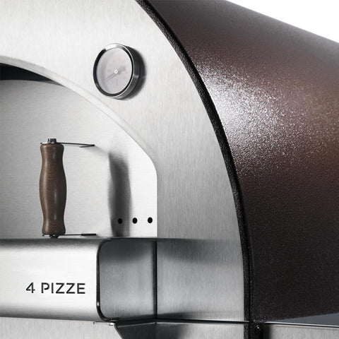 Alfa Forni 4 Pizze Mobile Wood Fired Pizza Oven Door