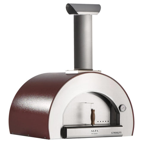 Image of Alfa Forni 5 Minuti Countertop Wood Fired Pizza Oven FX5MIN-LRAM-T