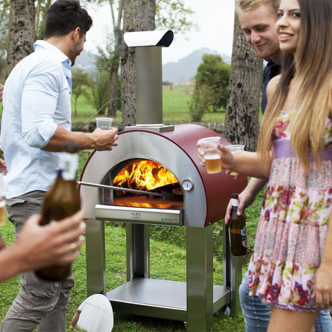 Alfa Forni 5 Minuti Freestanding Wood Fired Pizza Oven Cooking With Friends