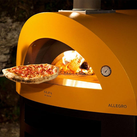 Alfa Allegro Countertop Wood Fired Pizza Oven Cooking Pizza