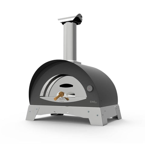 Alfa Ciao M Countertop Wood Fired Pizza Oven in Silver Grey FXCM-LGRI-T-V2