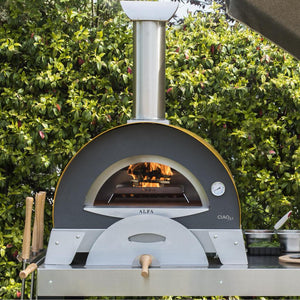 Alfa Ciao M Countertop Wood Fired Pizza Oven in Yellow FXCM-LGIA-T-V2
