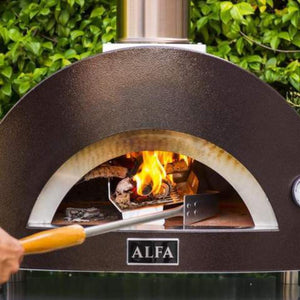 Alfa ONE Countertop Wood Fired Pizza Oven Inside View With Wood Rack