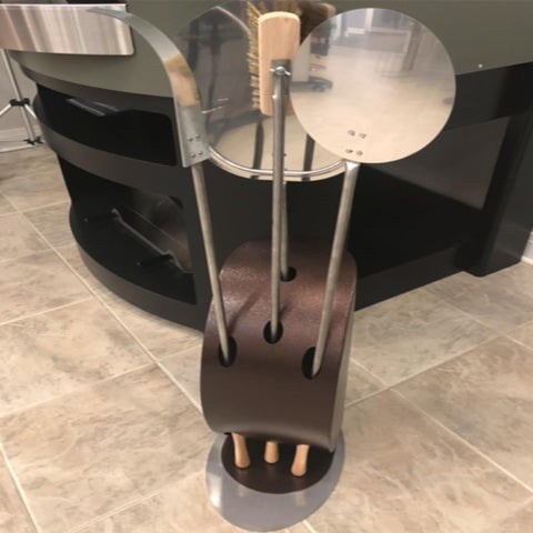 Alfa Vela Pizza Oven Peel Holder With Tools on Display