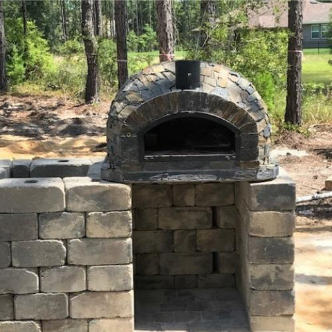 Image of Authentic Pizza Ovens Pizzaioli Stone Finish Built-In or Countertop Wood Fired Pizza Oven APOPIZSTN