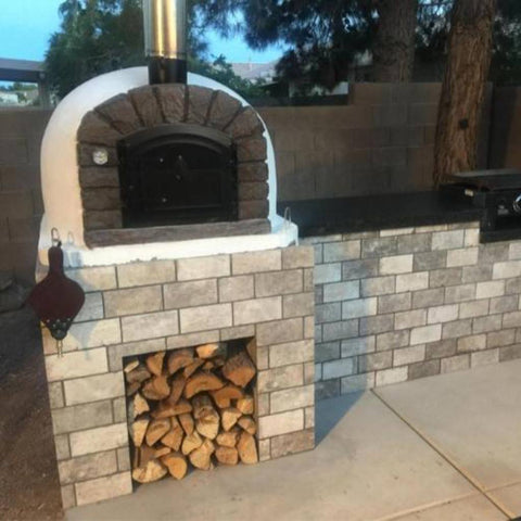Authentic Pizza Ovens Famosi Countertop Wood Fired Pizza Oven Custom Back Patio Kitchen
