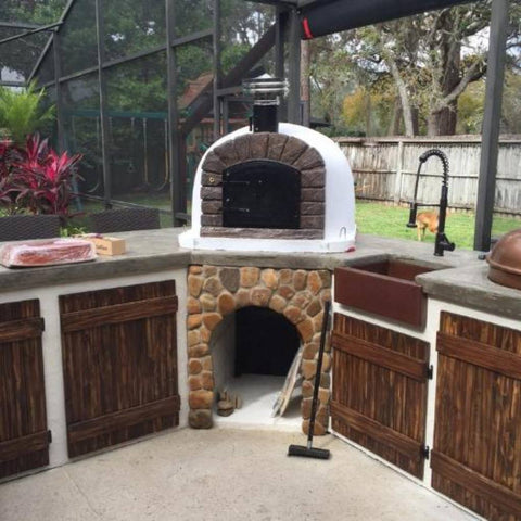 Authentic Pizza Ovens Famosi Countertop Wood Fired Pizza Oven Outdoor Kitchen