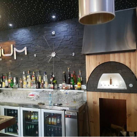 Authentic Pizza Ovens Maximus Prime Countertop Wood Fired Pizza Oven in Black Built In Commercial Business