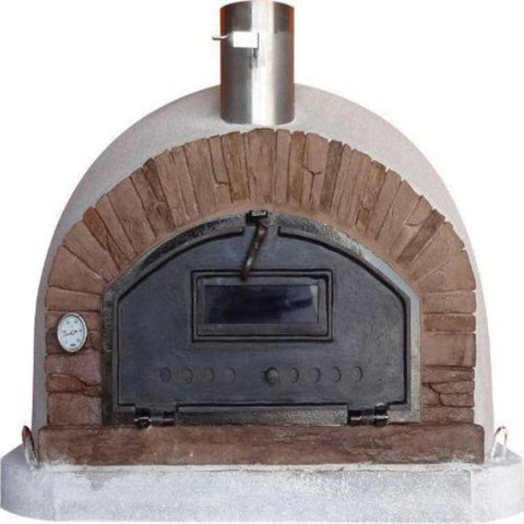 Image of Authentic Pizza Ovens Premium Buena Ventura Red Brick Countertop Wood Fired Pizza Oven BUENAPREMR
