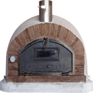 Authentic Pizza Ovens Premium Buena Ventura Red Brick Countertop Wood Fired Pizza Oven BUENAPREMR