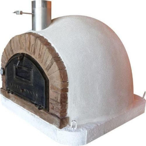Image of Authentic Pizza Ovens Premium Buena Ventura Red Brick Countertop Wood Fired Pizza Oven Right Side View