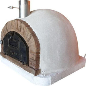 Authentic Pizza Ovens Premium Buena Ventura Red Brick Countertop Wood Fired Pizza Oven Right Side View