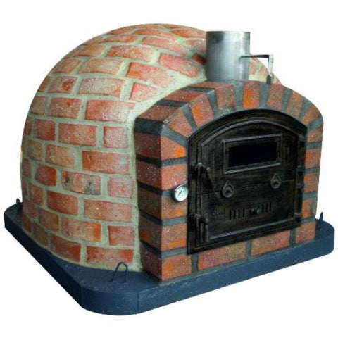 Authentic Pizza Ovens Premium Lisboa Rustic Finish Countertop Wood Fired Pizza Oven RUSTLISPREM