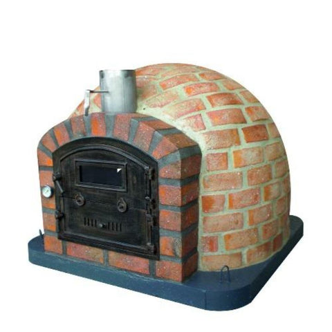 Authentic Pizza Ovens Premium Lisboa Rustic Finish Countertop Wood Fired Pizza Oven Right Side View