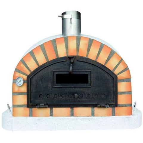 Authentic Pizza Ovens Premium Pizzaioli Countertop Wood Fired Pizza Oven Front View Close Up