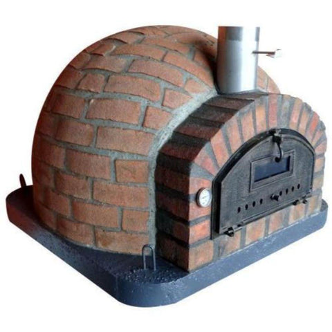 Image of Authentic Pizza Ovens Premium Pizzaioli Rustic Finish Countertop Wood Fired Pizza Oven Left Side View