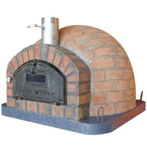 Authentic Pizza Ovens Premium Pizzaioli Rustic Finish Countertop Wood Fired Pizza Oven Right Side View