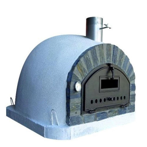 Authentic Pizza Ovens Premium Pizzaioli Stone Arch Countertop Wood Fired Pizza Oven Left Side View
