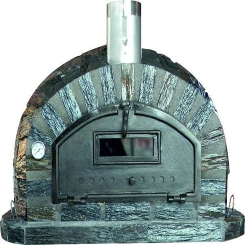 Authentic Pizza Ovens Premium Pizzaioli Stone Finish Countertop Wood Fired Pizza Oven PIZSTNPREM