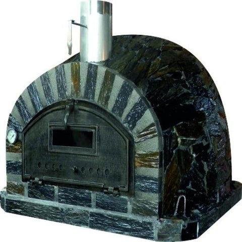 Authentic Pizza Ovens Premium Pizzaioli Stone Finish Countertop Wood Fired Pizza Oven Right Side View